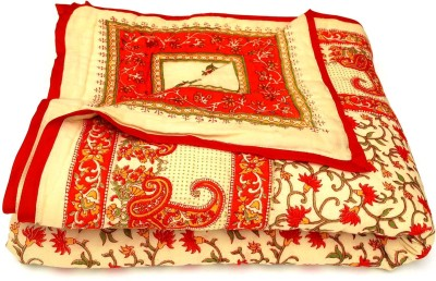 Sudharaj Floral Single Blanket Red