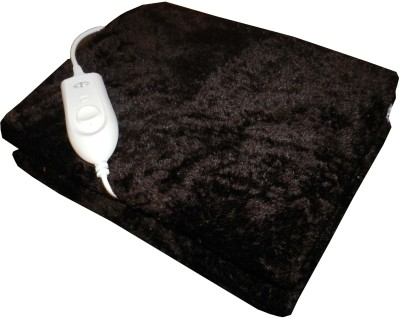 Expressions Plain Single Electric Blanket Brown