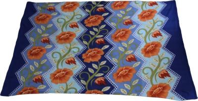 Majestic Floral Single Blanket Blue