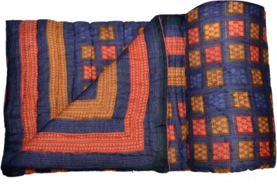 Bagru Crafts Checkered King Quilts & Comforters Multicolor