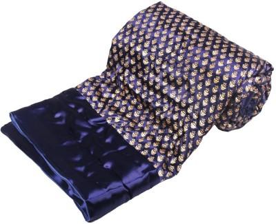 Jaipurtextilehub Floral Double Quilts & Comforters Blue