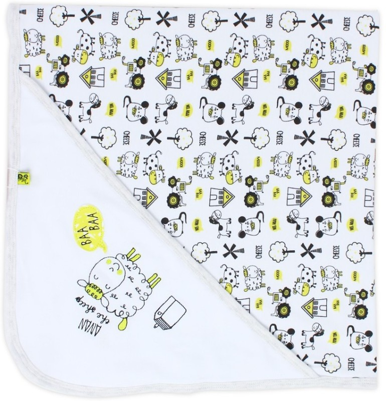 FS Mini Klub Cartoon Single Blanket White(Blanket)