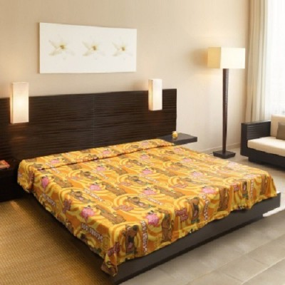 Sovam International Cartoon Double Blanket Yellow