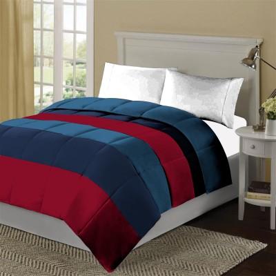 KIAANA USA Striped Double Quilts & Comforters Aqua, Navy, Red