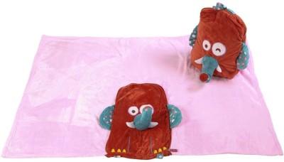 Baby Oodles Animal Single Blanket Pink