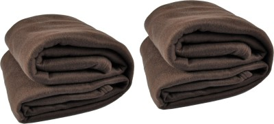 Kema Plain Single Blanket Brown