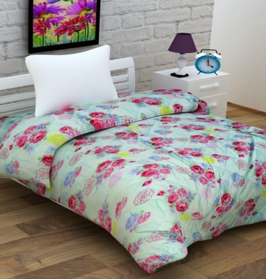 Enfin Homes Floral Single Quilts & Comforters Light Green
