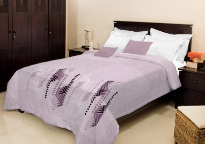 Bombay Dyeing Checkered Double Blanket Purple