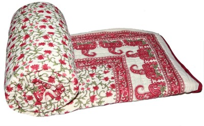 Sudharaj Paisley Double Blanket Red