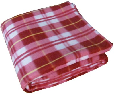Wonder Collection Checkered Single Blanket Pink