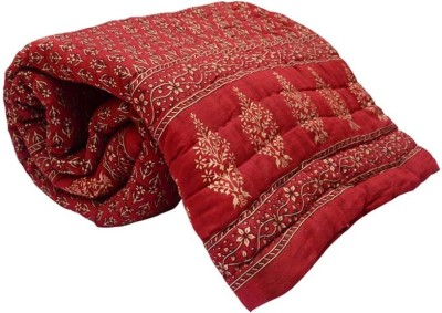 Bagru Crafts Floral Double Quilts & Comforters Red