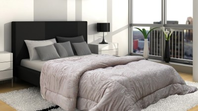 Wrap Paisley Single Quilts & Comforters Grey