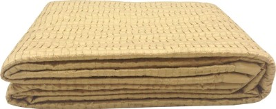 Milano Home Geometric Single Quilts & Comforters Gold