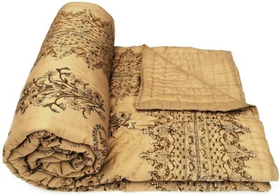 Buy Clues Paisley Double Quilts & Comforters Brown