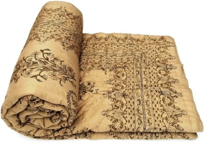 Buy Clues Abstract Single Quilts & Comforters Gold