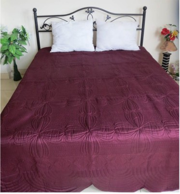 Needlecrest Embroidered Double Quilts & Comforters Redwine