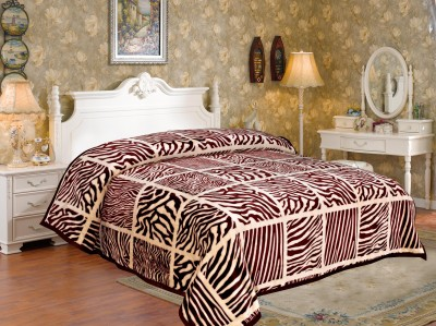 Signature Checkered Double Blanket Brown