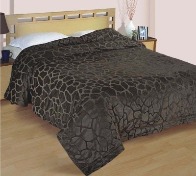 Zyne Abstract Double Quilts & Comforters Brown