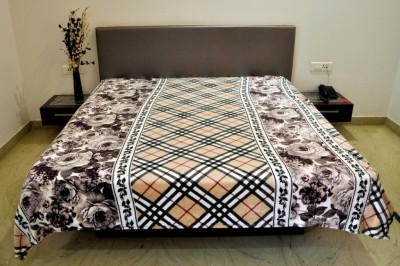 Welhouse India Floral Double Blanket Brown