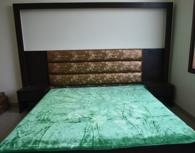DHANI Plain Double Blanket Green