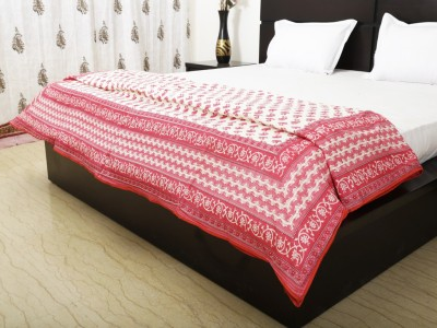 Exkklusiv Rajasthan Floral Double Dohar Red
