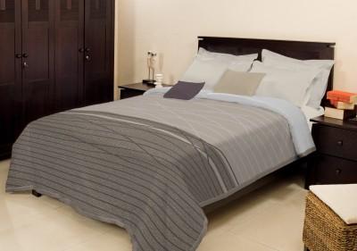 Bombay Dyeing Striped Single Blanket Grey