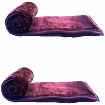 Guru Kirpa Textiles Plain Single Blanket Purple