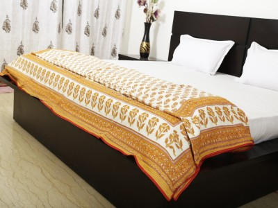 Exkklusiv Rajasthan Floral Double Dohar Yellow