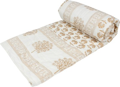 Arra Paisley Single Quilts & Comforters Gold