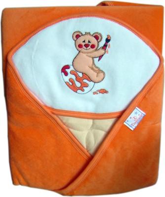 Tiny Care Checkered Single Blanket Orange