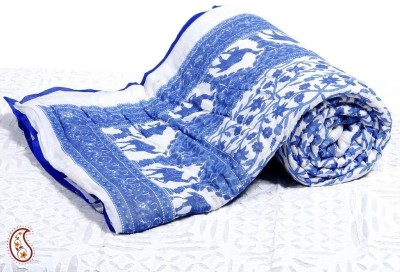 Bagrastore Floral Double Quilts & Comforters Dark Blue