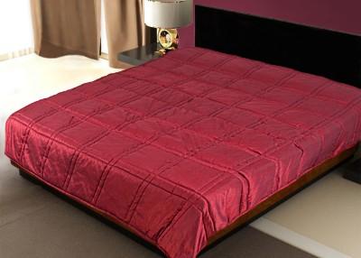 Zikrak Exim Plain Single Blanket Maroon