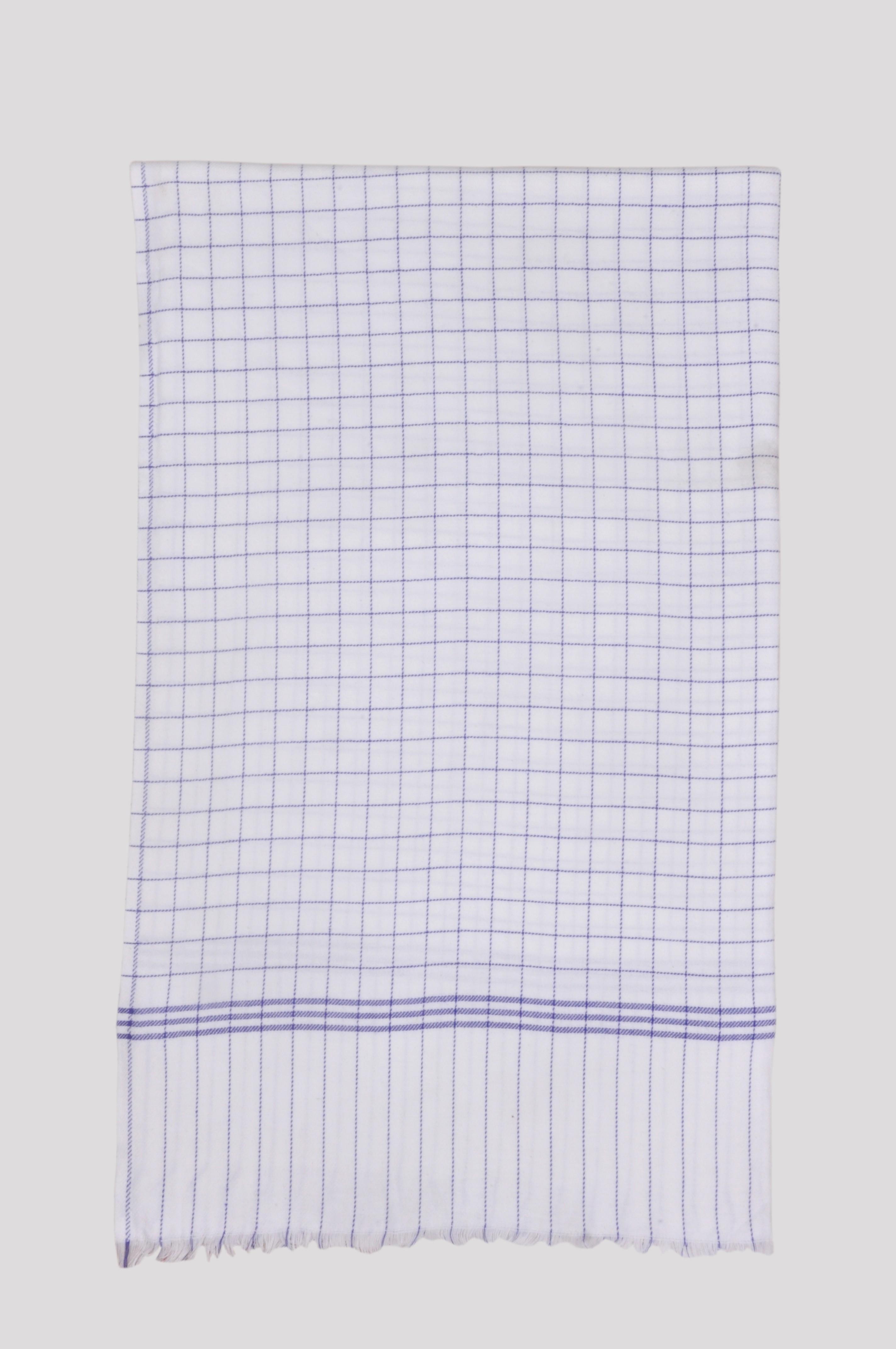 Jass Home Decor Checkered Single Blanket Blue(AC Blanket, Set of 1 Blanket)