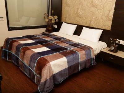 Tima Checkered Double Blanket Multicolor