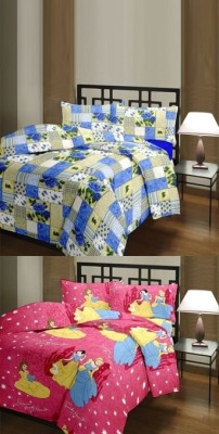 The Home Story Checkered, Cartoon Single Dohar Multicolor