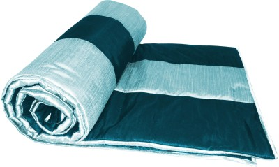 Zikrak Exim Checkered Single Quilts & Comforters Blue, Light Blue