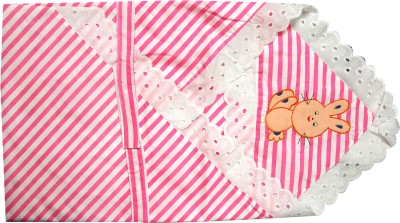 U & Me Striped Single Top Sheet Pink, White
