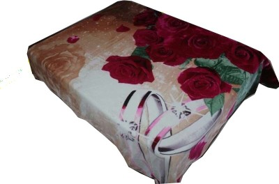 Holy Angel Floral Double Blanket Pink