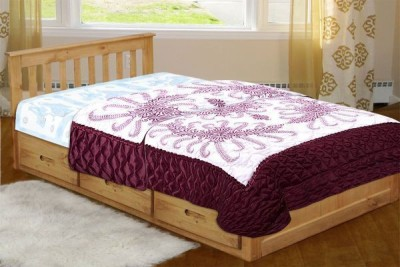 Chelsi Printed Single Quilts & Comforters Maroon
