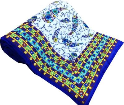 Factorywala Printed Single Quilts & Comforters Dark Blue