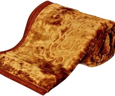 Pasricha Handlooms Floral Single Blanket Camel