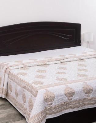 Kalasansar Paisley King Quilts & Comforters White, Gold