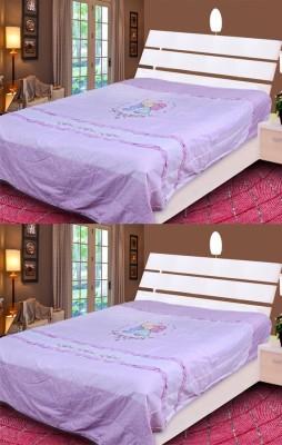 Rangoli Floral Single Quilts & Comforters Purple