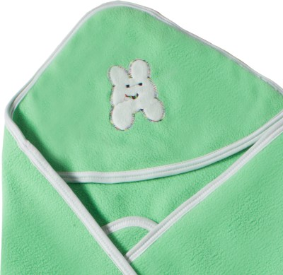 Utc Garments Plain Single Hooded Baby Blanket Light Green