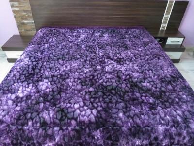 Titlis Plain Double Quilts & Comforters Purple