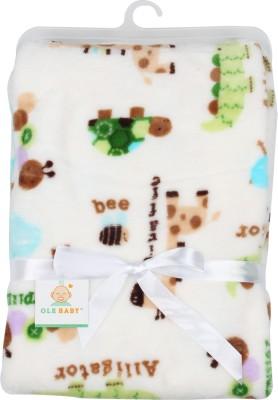 Ole Baby Animal Single Blanket White