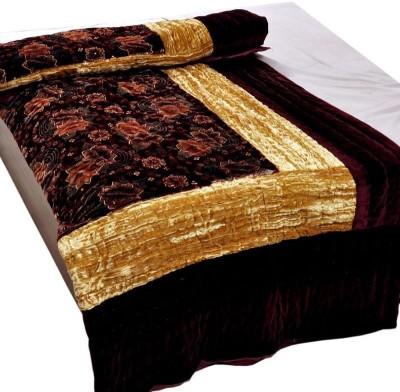 Bagrastore Floral Double Quilts & Comforters Maroon