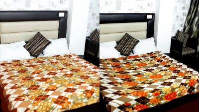 Feathers Floral Double Blanket Multicolor