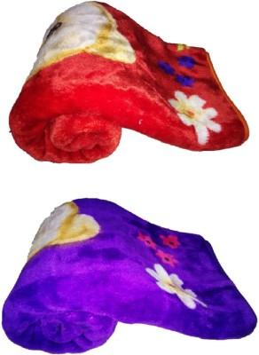 Light Gear Baby Winter Mink Cartoon Crib Blanket Multicolor