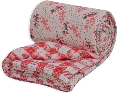 Salona Bichona Abstract Double Quilts & Comforters Peach